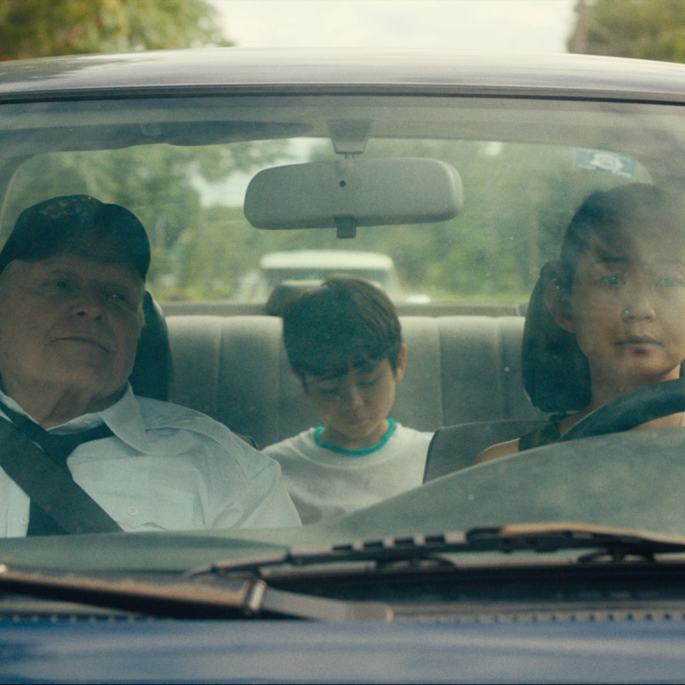 Brian Dennehy, Lucas Jaye, and Hong Chau in Driveways