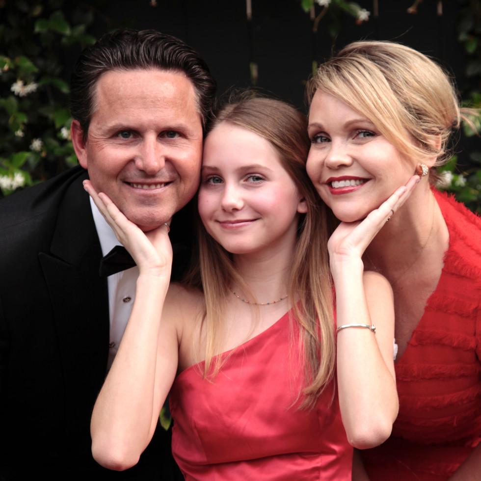 JDRF gala Travis, Caris and Freyja Lauritsen