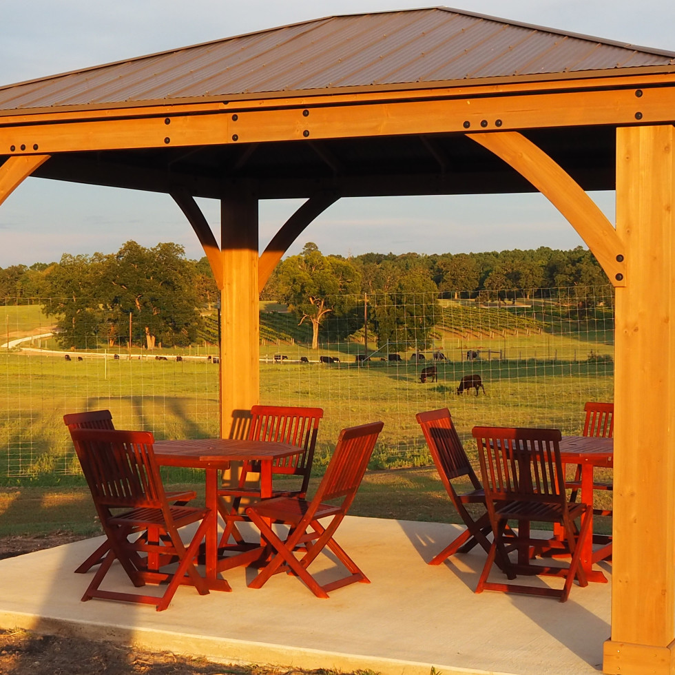 West Sandy Creek Winery gazebo