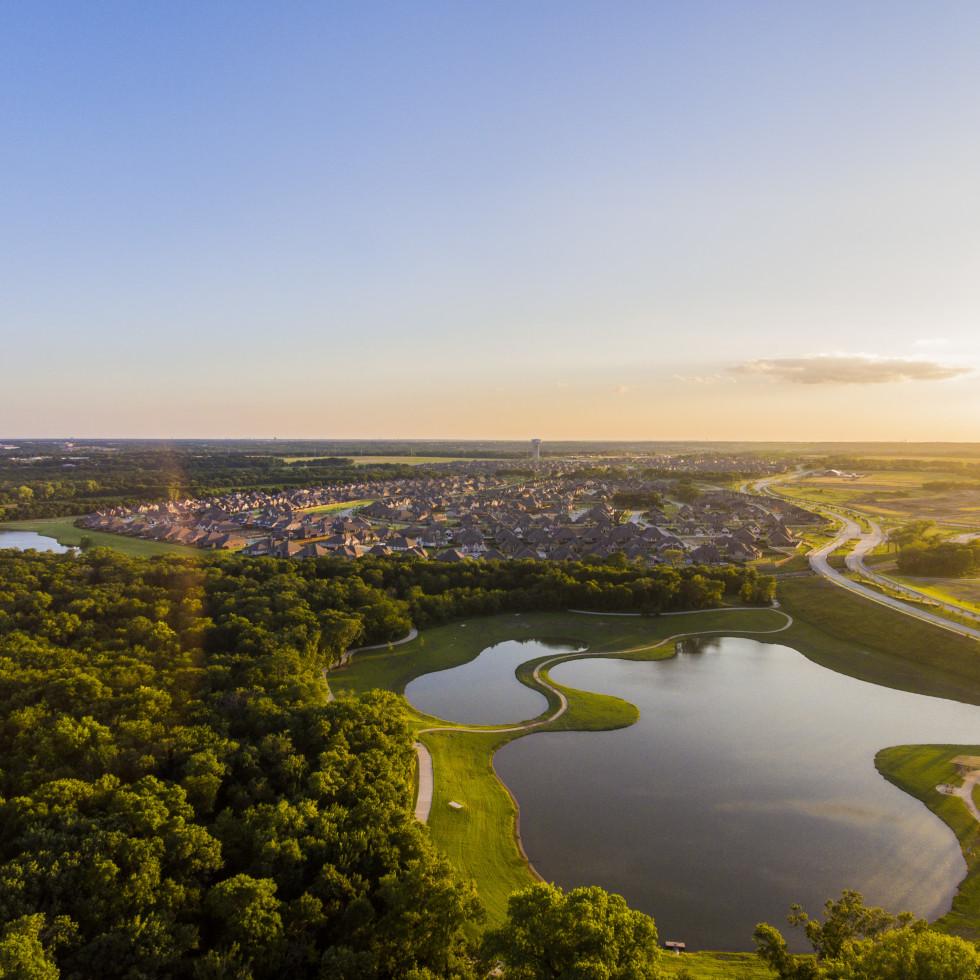 Trinity Falls aerial view