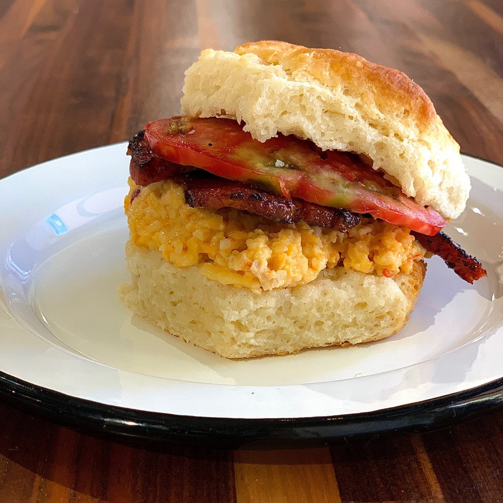 Cherry Block pimento cheese biscuit
