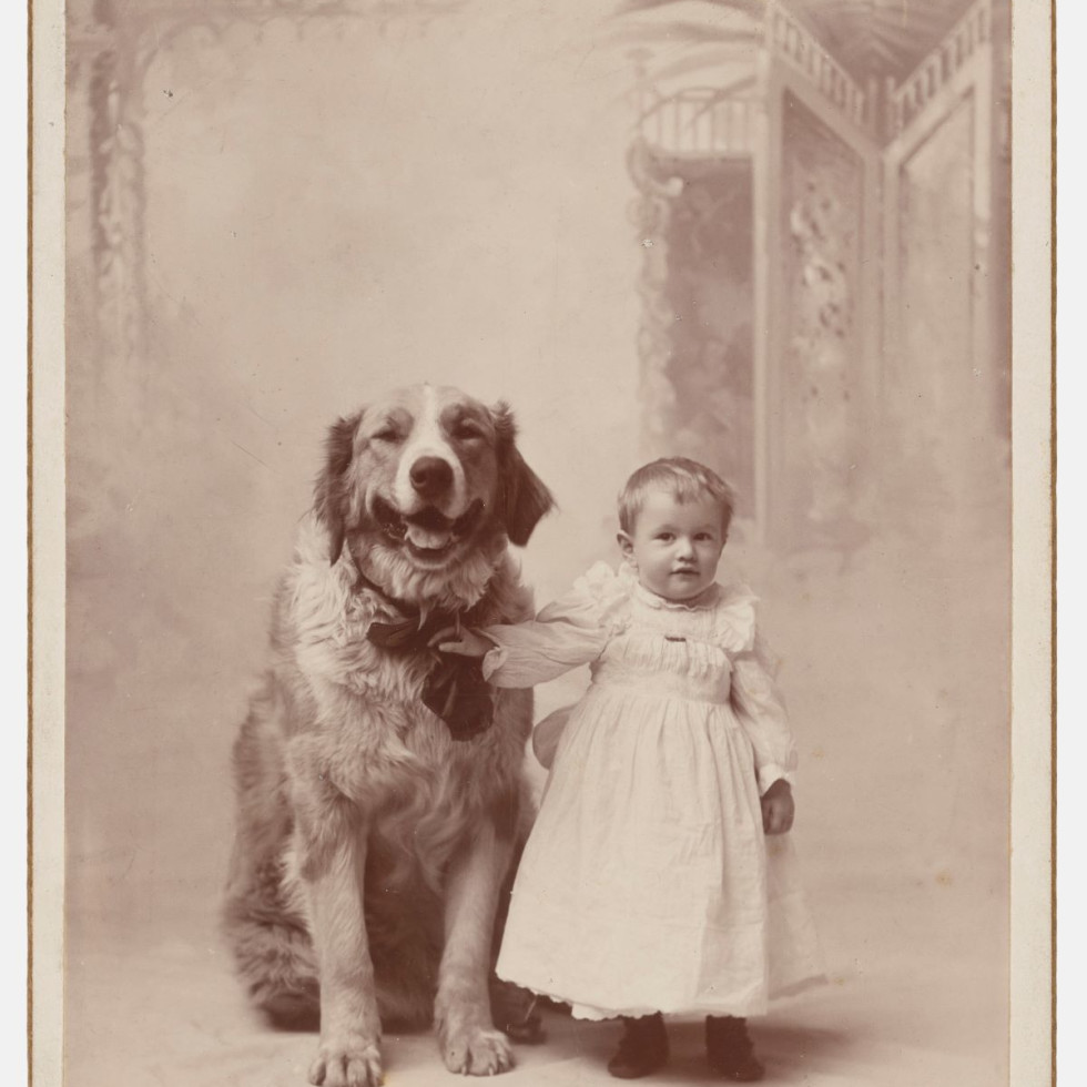 Charles L. Griffin, Scranton, PA, [Toddler with dog], ca. 1892