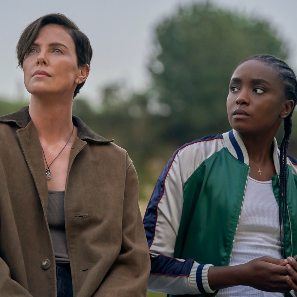 Charlize Theron and Kiki Layne in The Old Guard