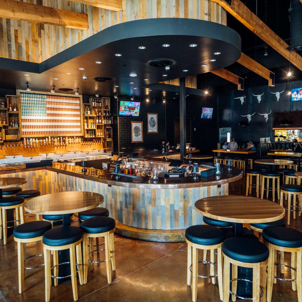 The Rustic Post Oak bar interior