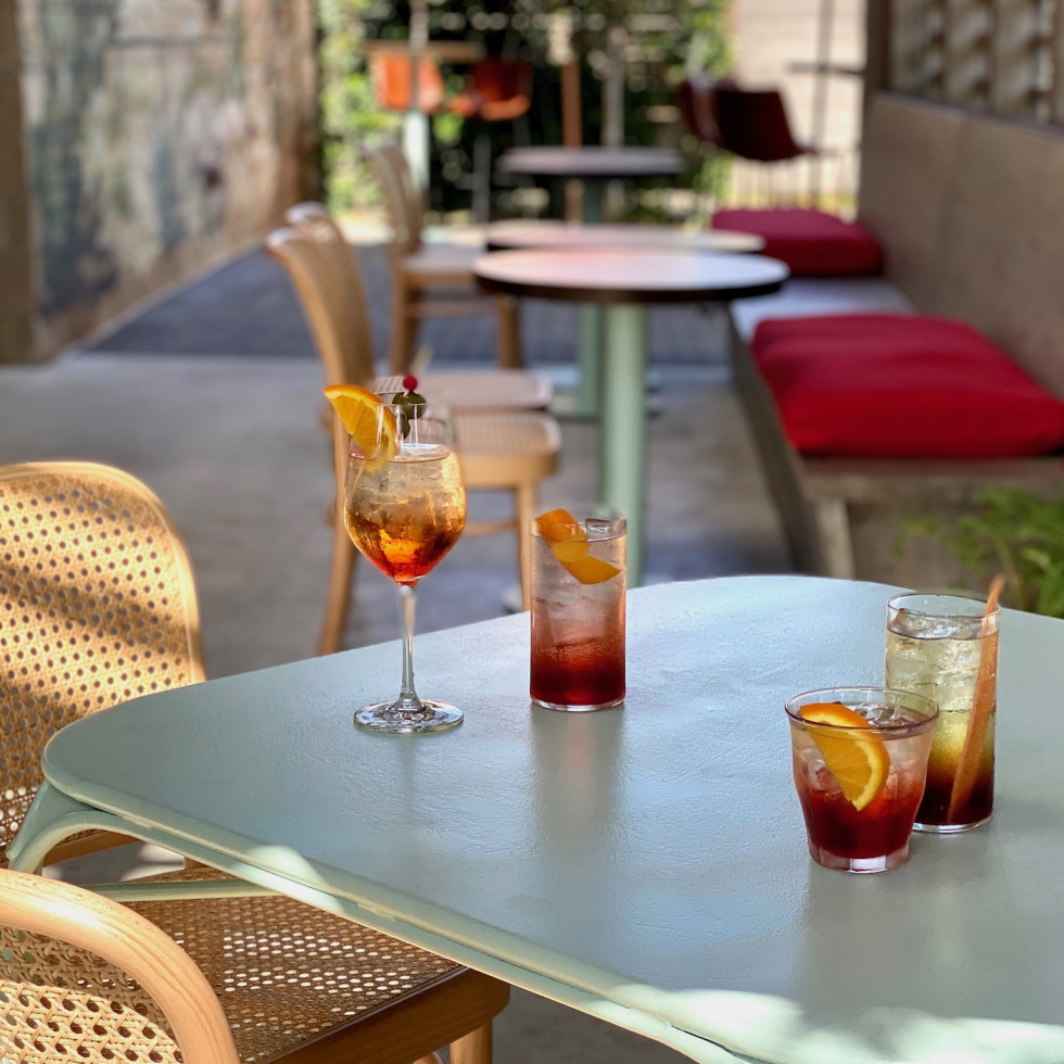 Rosie Cannonball Spritz patio