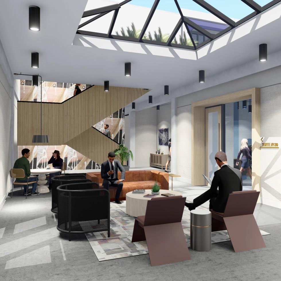 3201 Allen Parkway lobby rendering