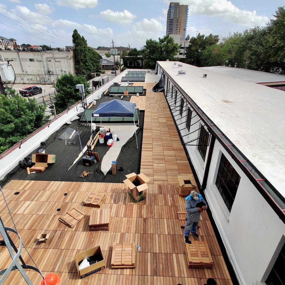 3201 Allen Parkway roof deck construction
