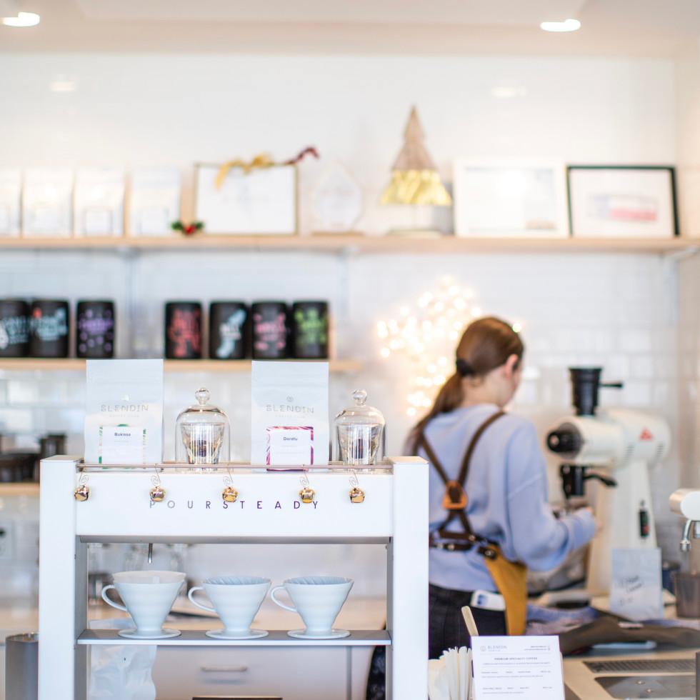 Blendin Coffee Club counter area