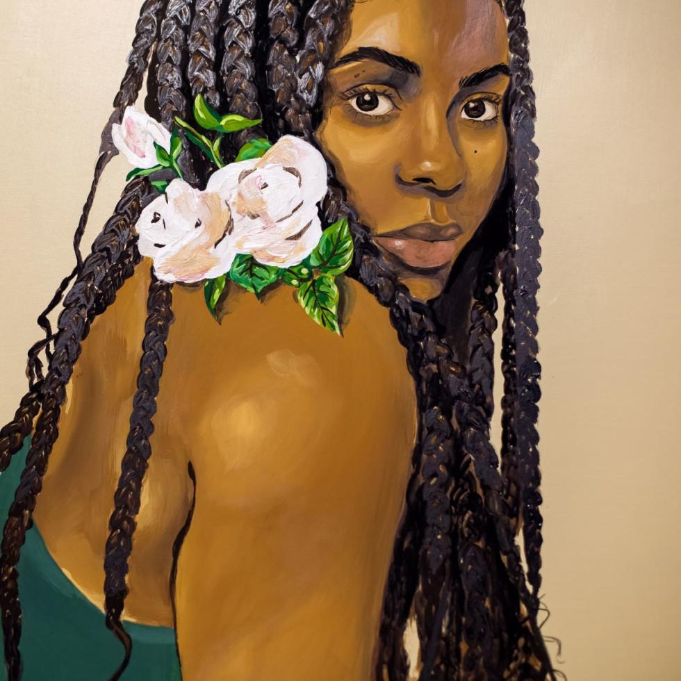 """Ari Brielle self-portrait, """"Our Faces, Our Voices"""""""