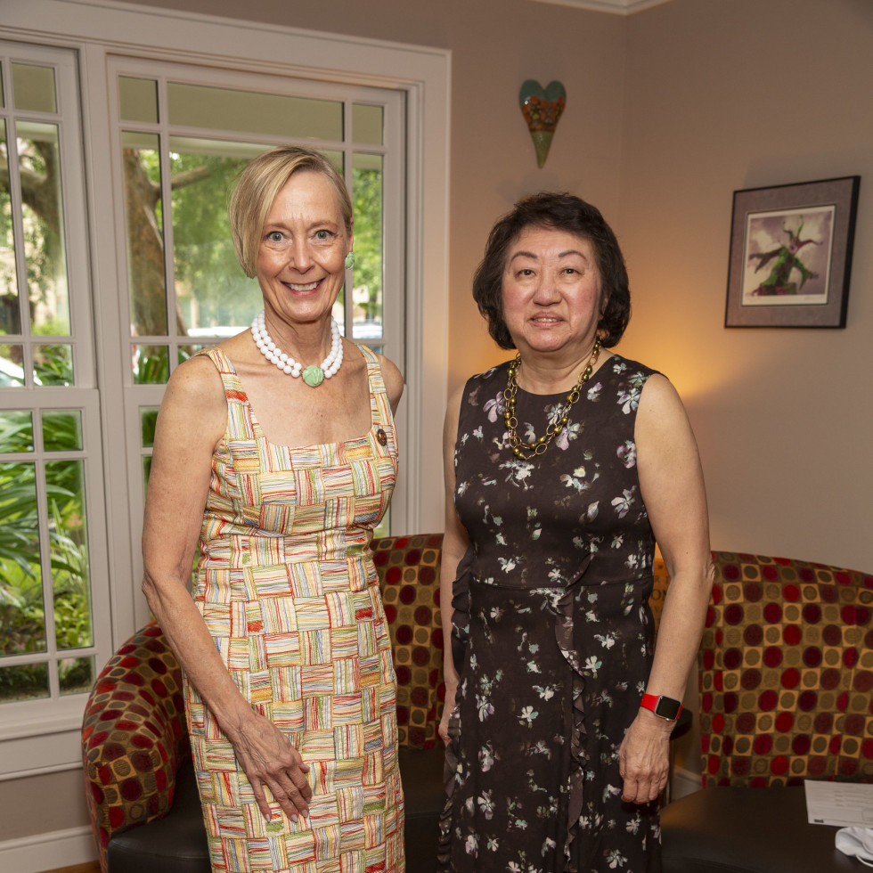 Salvation Army luncheon 2020 Chic Boutique Connie Wallace, Judy Chong