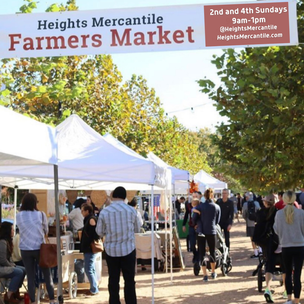 Heights Mercantile Farmers Market banner
