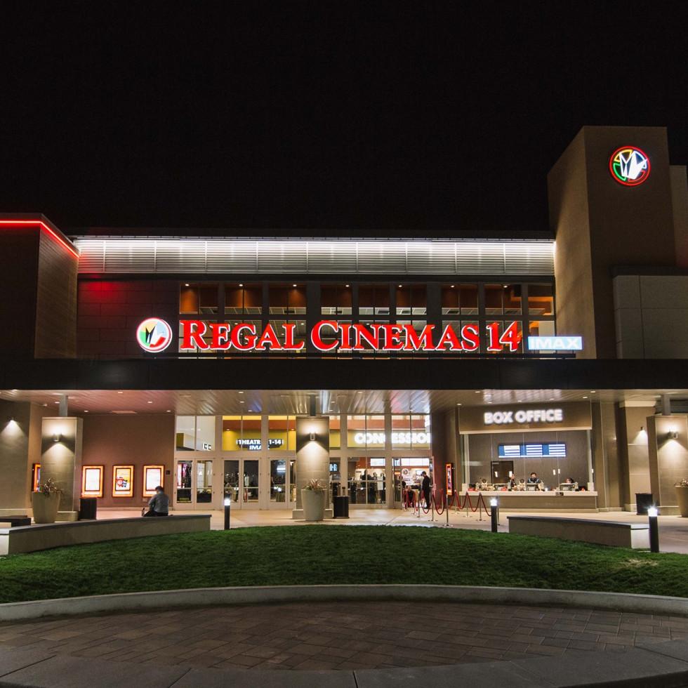 Regal Cinema marquee movie theater