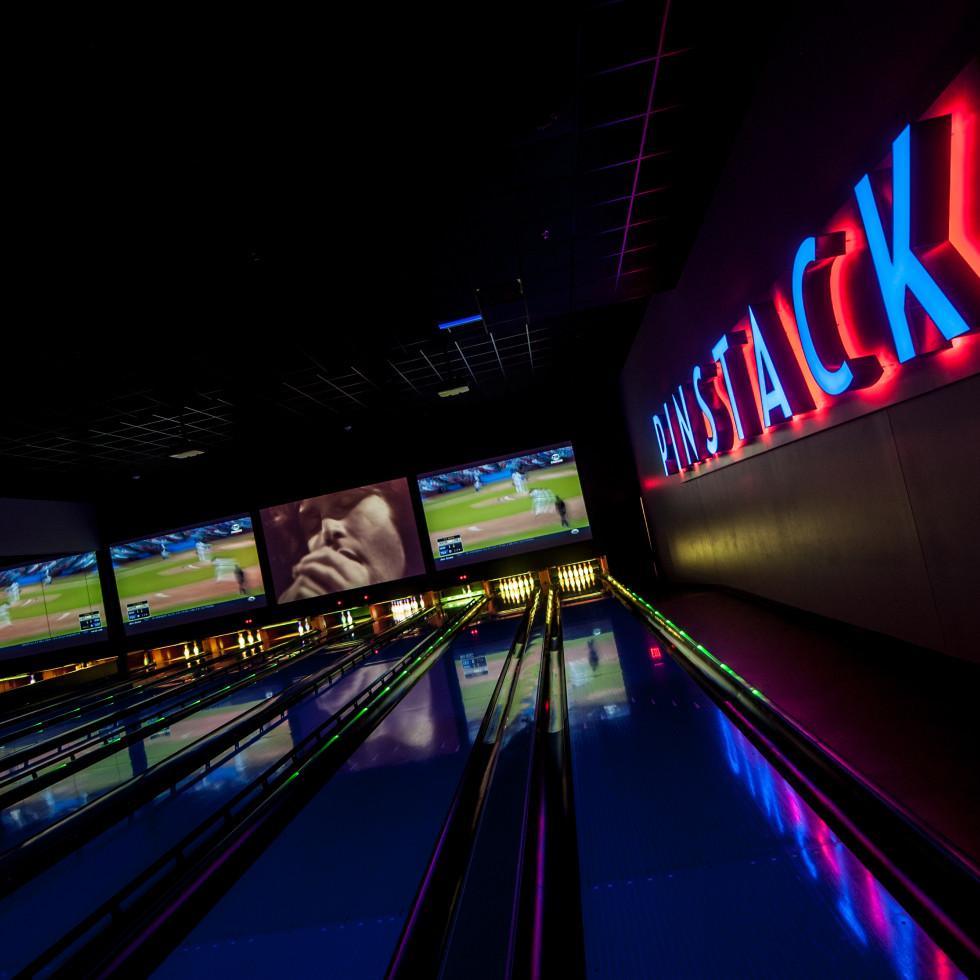 Pinstack VIP private bowling lanes