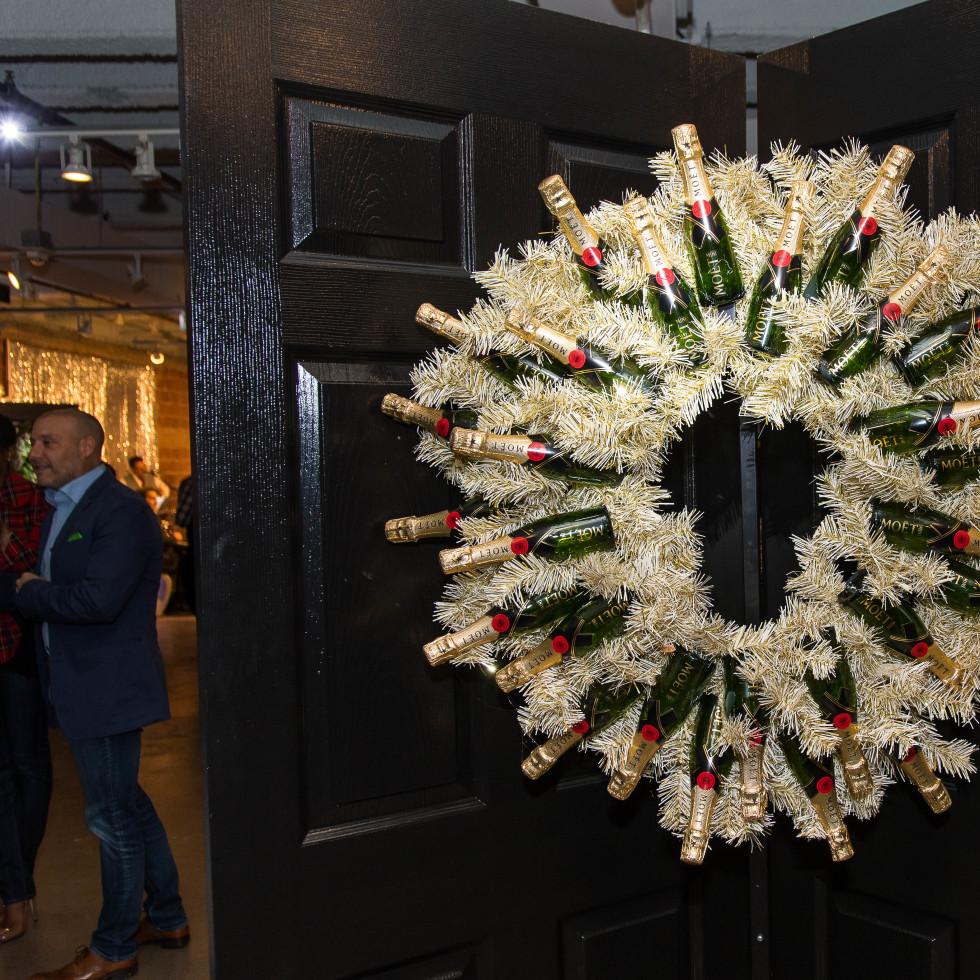 Moet & Chandon wreath
