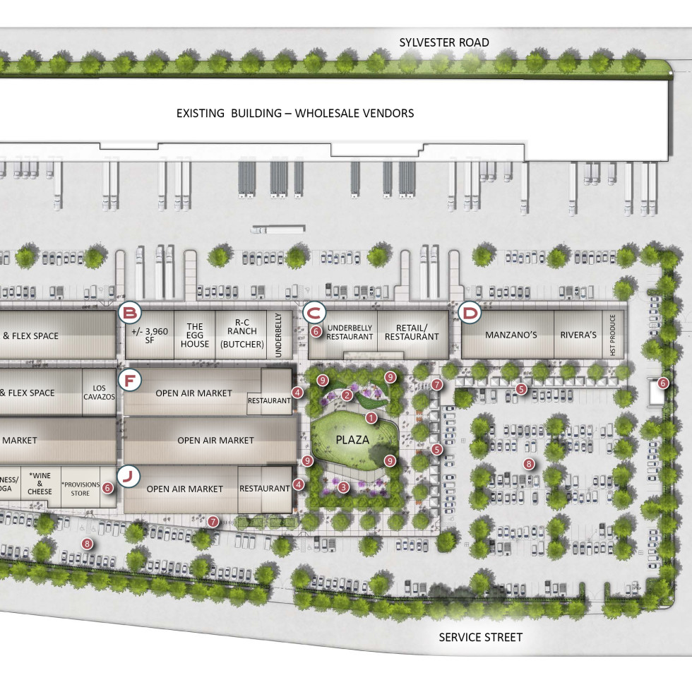 Houston Farmers Market layout