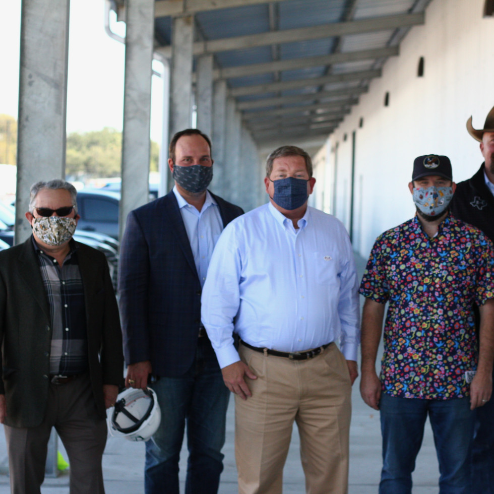 Houston Farmers Market Fred Baca, Jeff Lindenberger, Todd Mason, Nick Fine, Ryan Cade, and Chris Shepherd