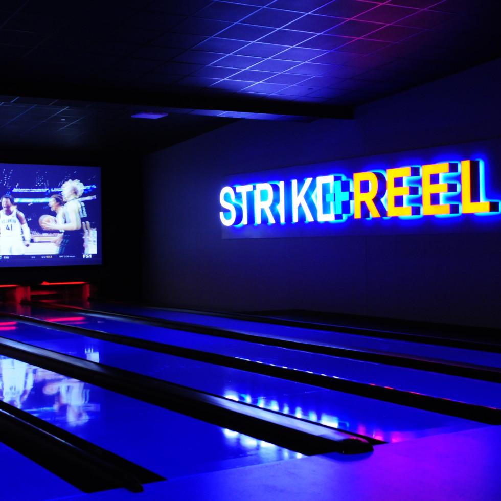 Strike + Reel VIP bowling