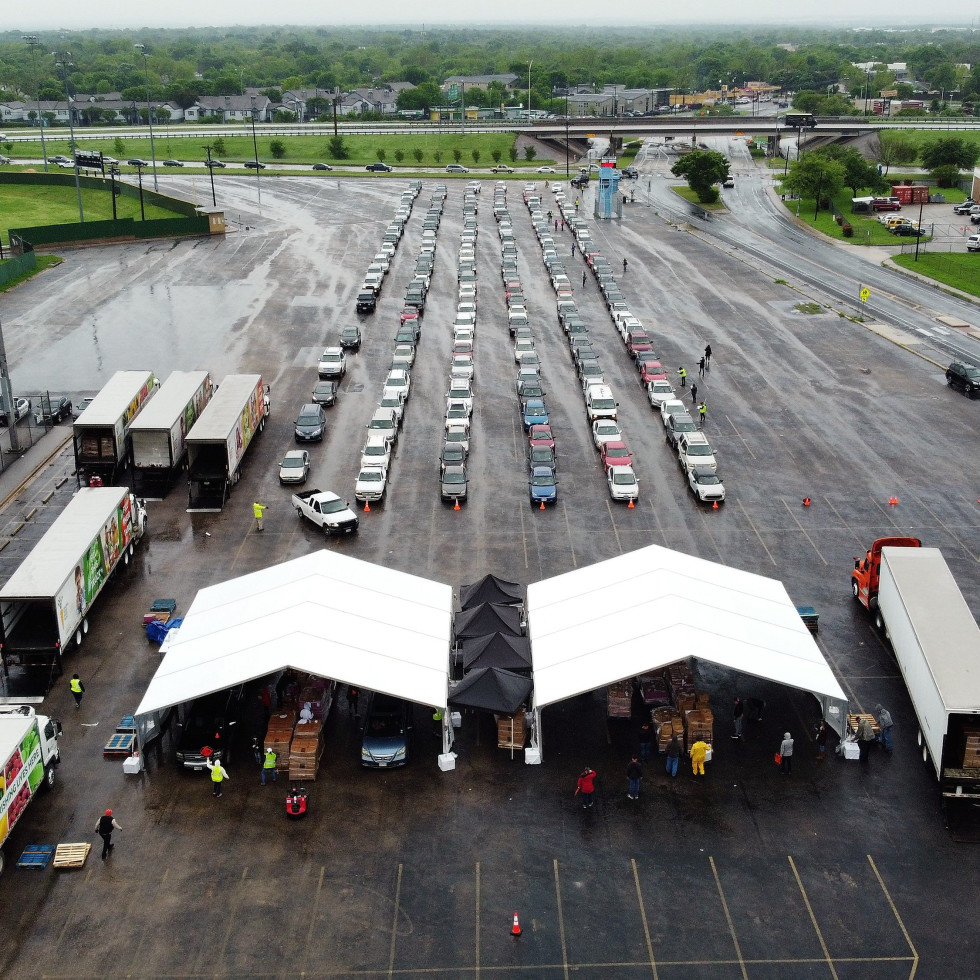 Central Texas Food Bank distribution during the pandemic