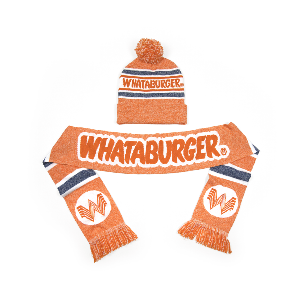 Whataburger apparel holiday 2020 sweater socks hat
