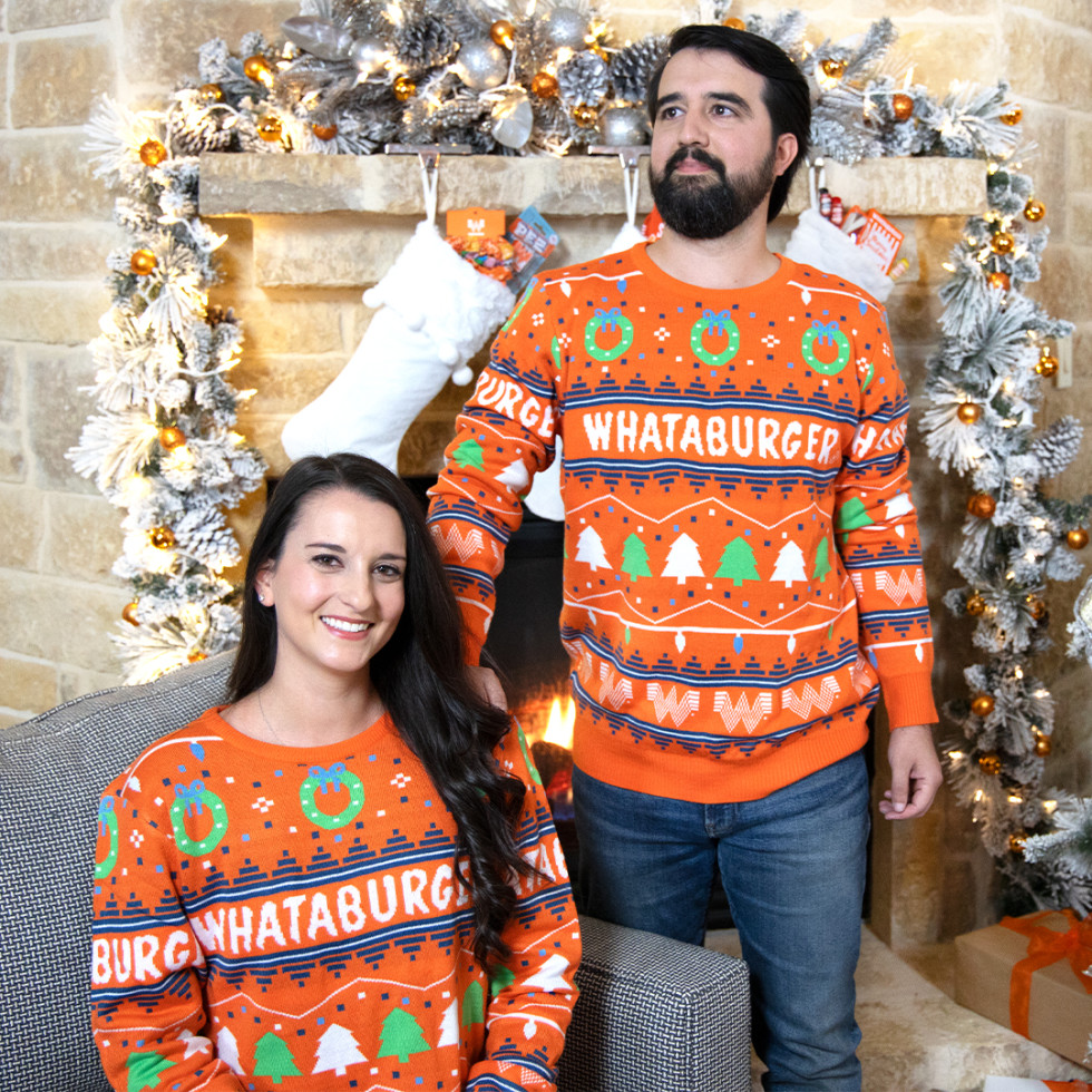 Whataburger apparel holiday 2020 sweater socks hatWhataburger apparel holiday 2020 sweater socks hat