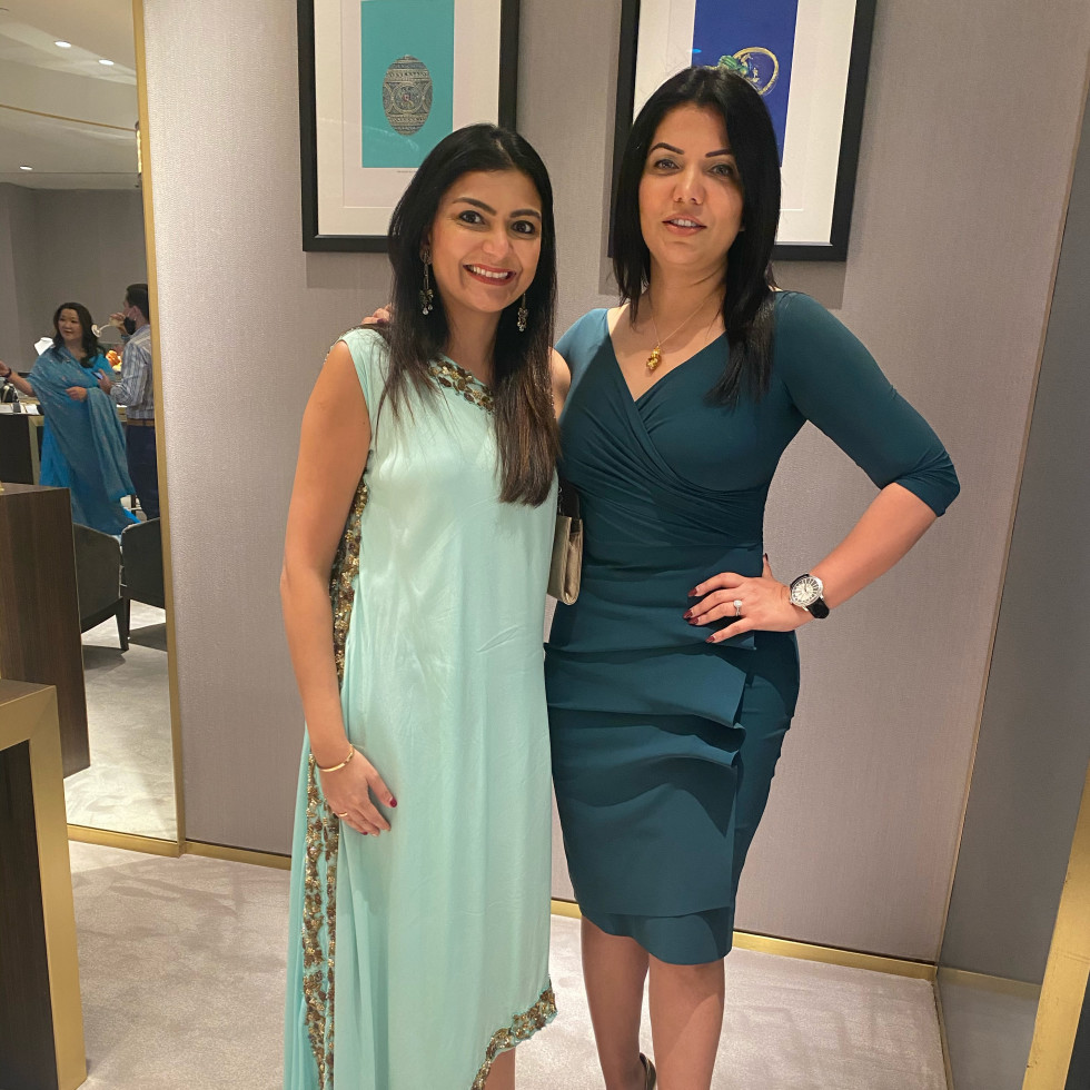 LCA Houston Faberge Diwali 2020 Khatidja Vellani and Mona Khan