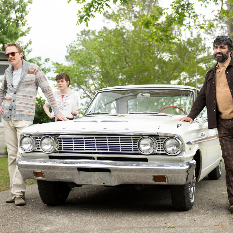 Paul Bettany, Sophia Lillis, and Peter Macdissi in Uncle Frank