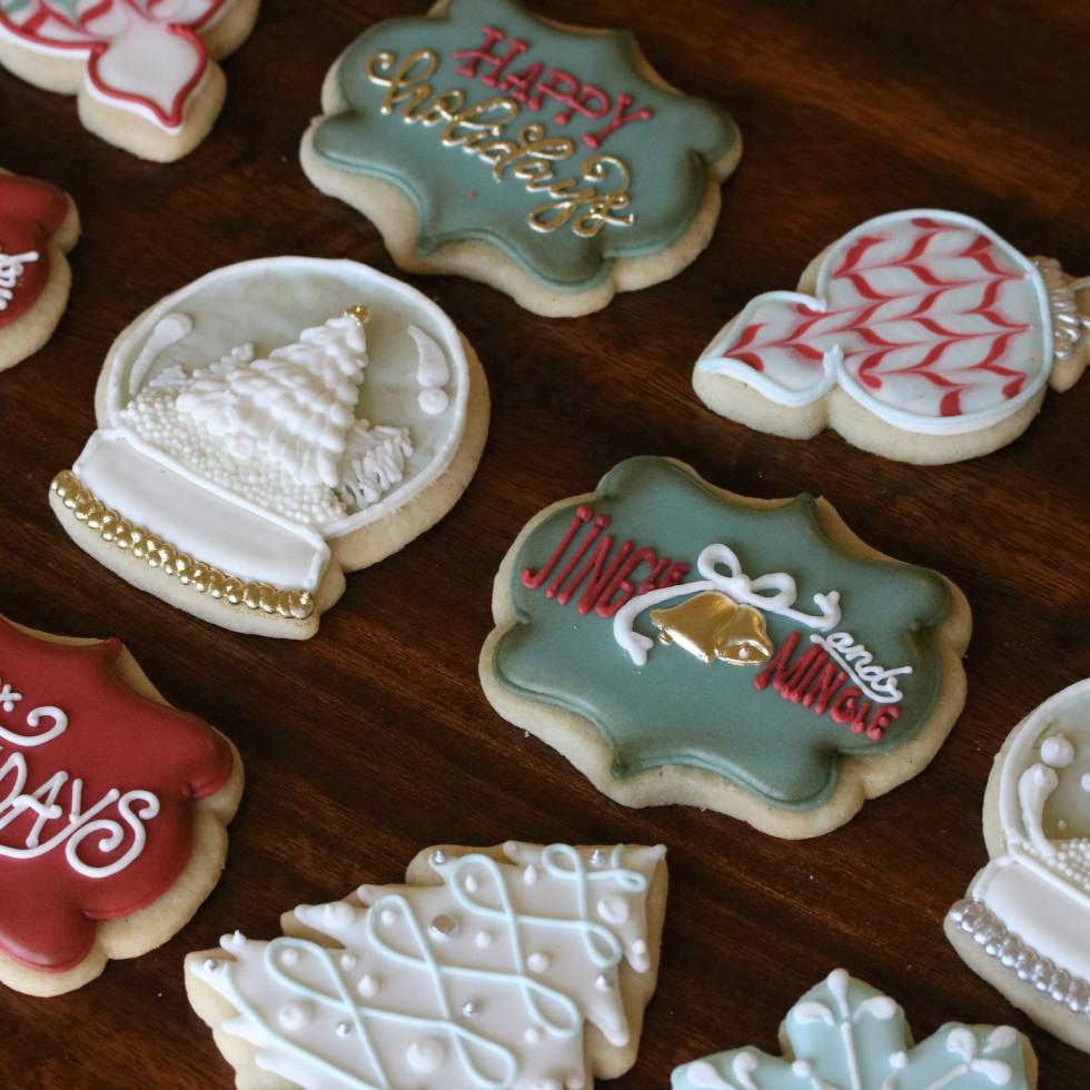 Bearded Baker Christmas cookies