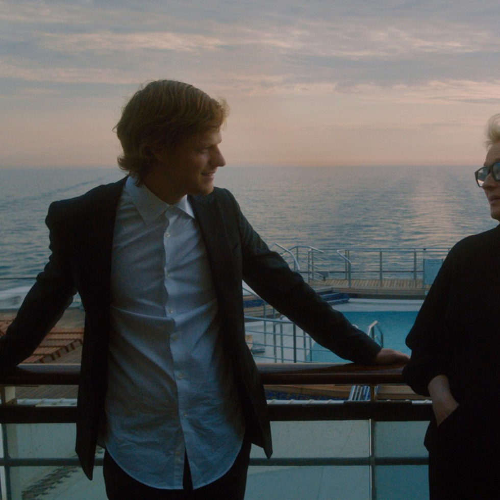 Lucas Hedges and Meryl Streep in Let Them All Talk