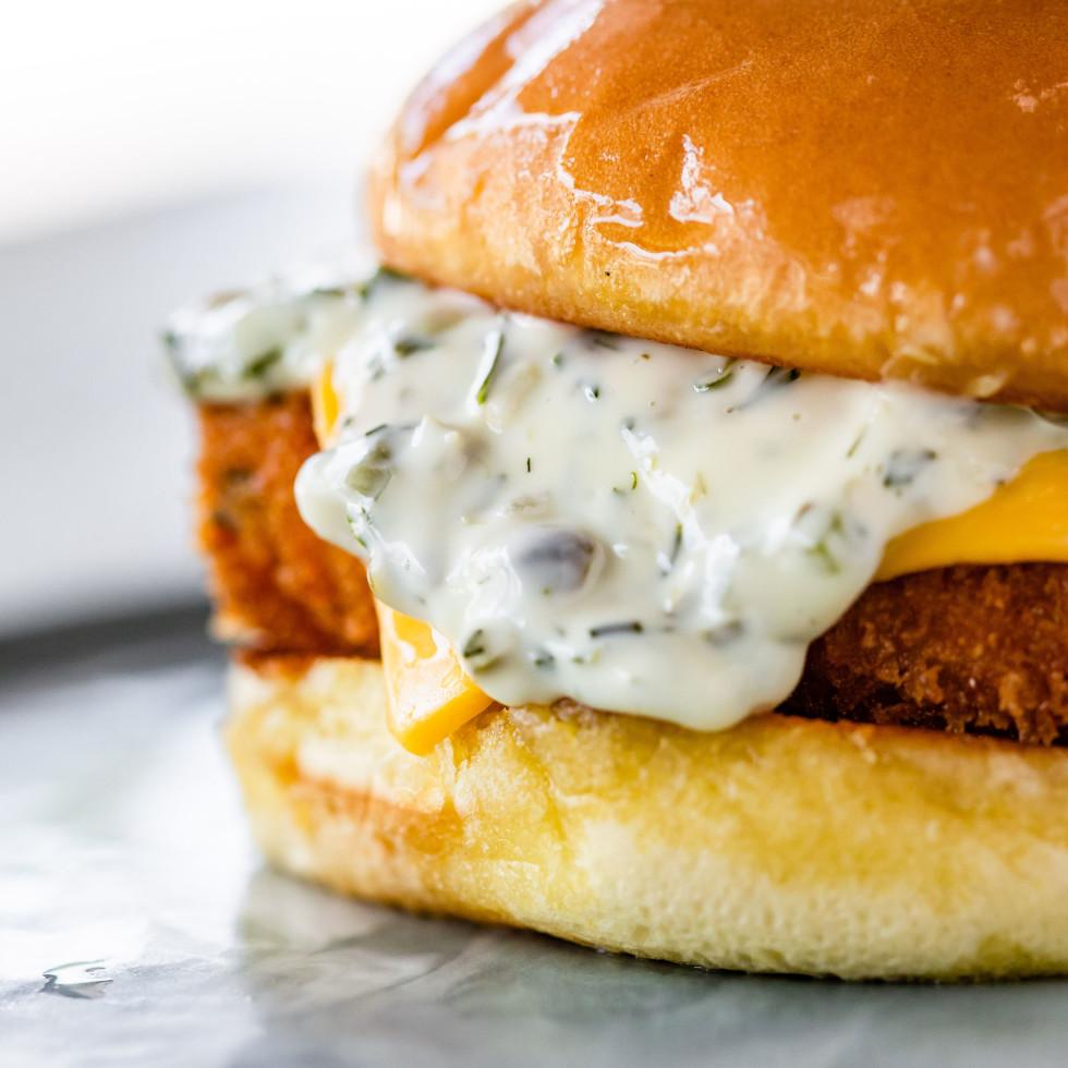 Louie's fried fish sandwich
