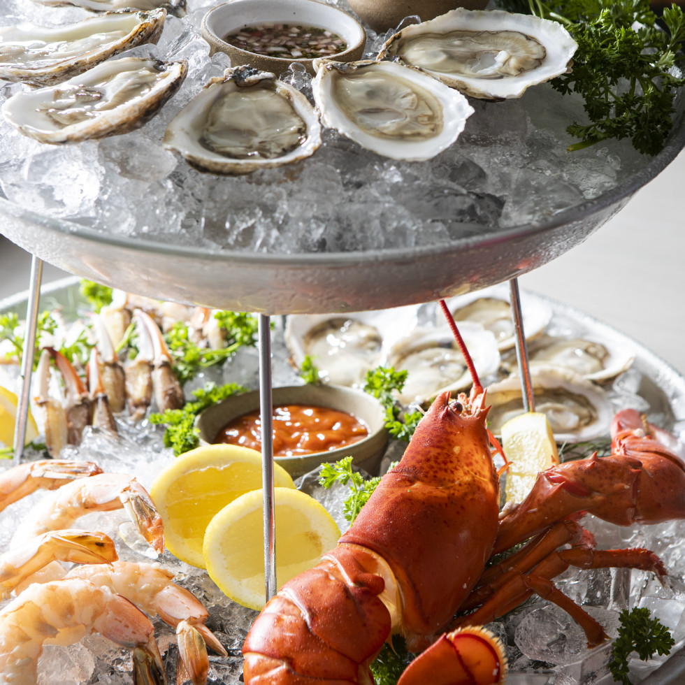 Summer House Austin seafood tower