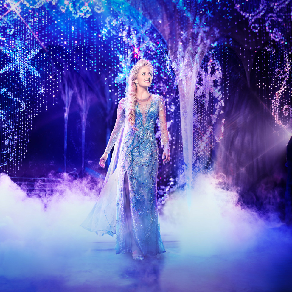 Caissie Levy in Frozen on Broadway
