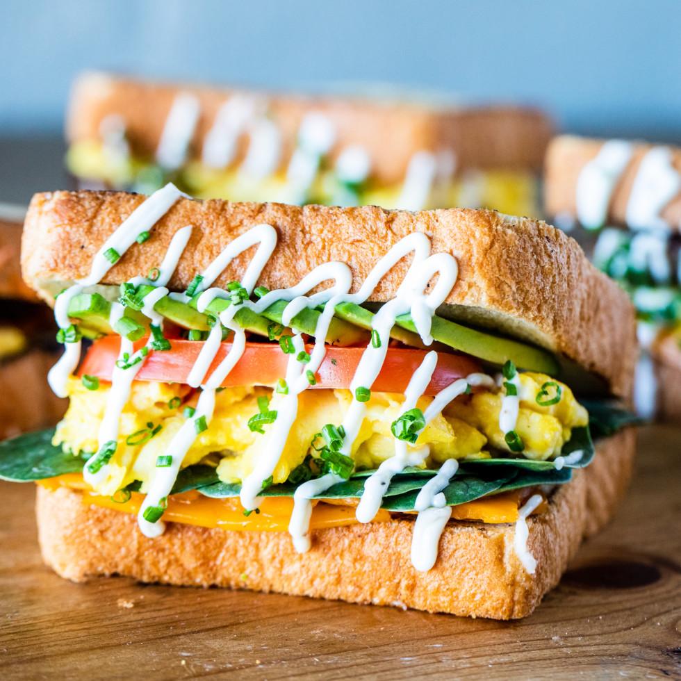 Sticky's Chicken egg sandwich