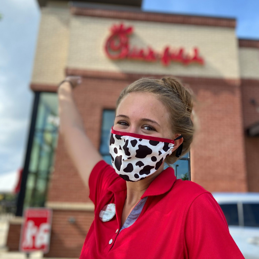 Chick-fil-A drive-thru girl at store