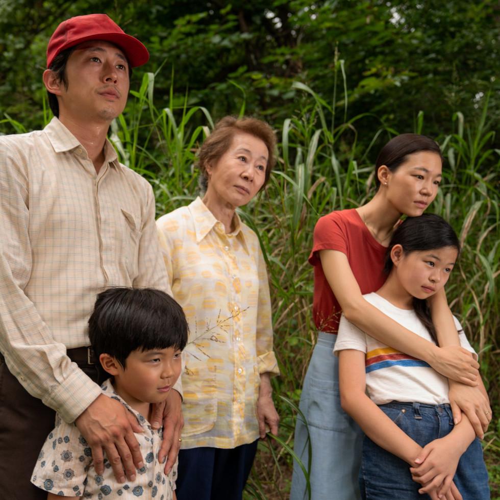Steven Yeun, Alan S. Kim, Youn Yuh-jung, Yeri Han, and Noel Cho in Minari