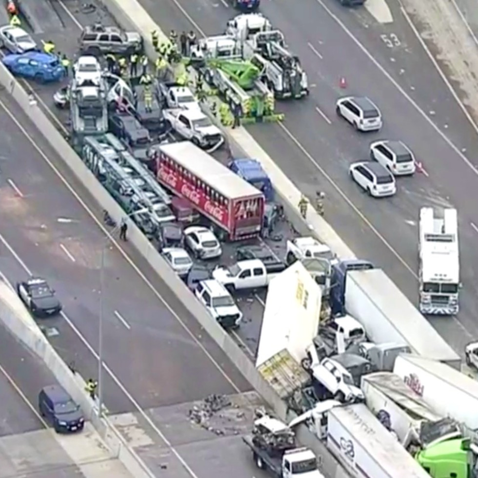 I-35W, Fort Worth ice crash