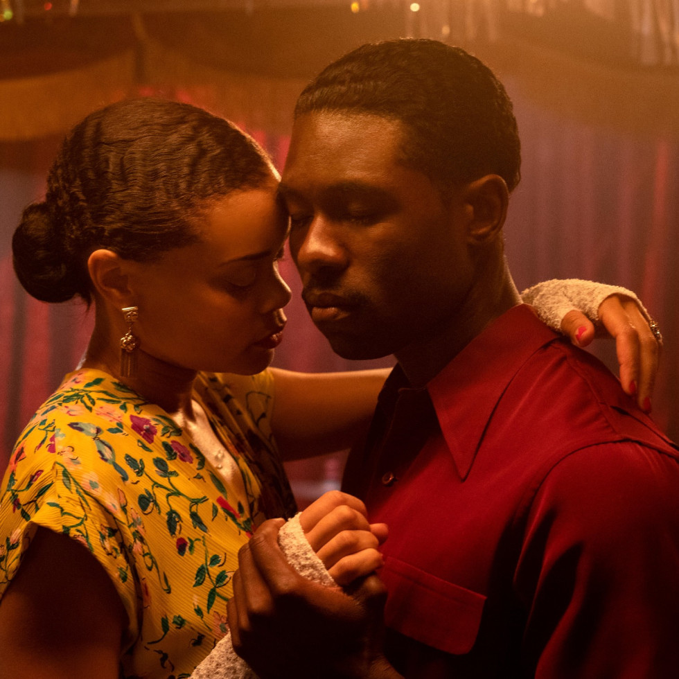 Andra Day and Trevante Rhodes in The United States vs. Billie Holiday