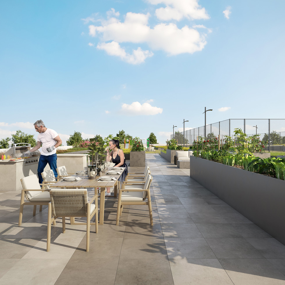 The Parklane amenity deck
