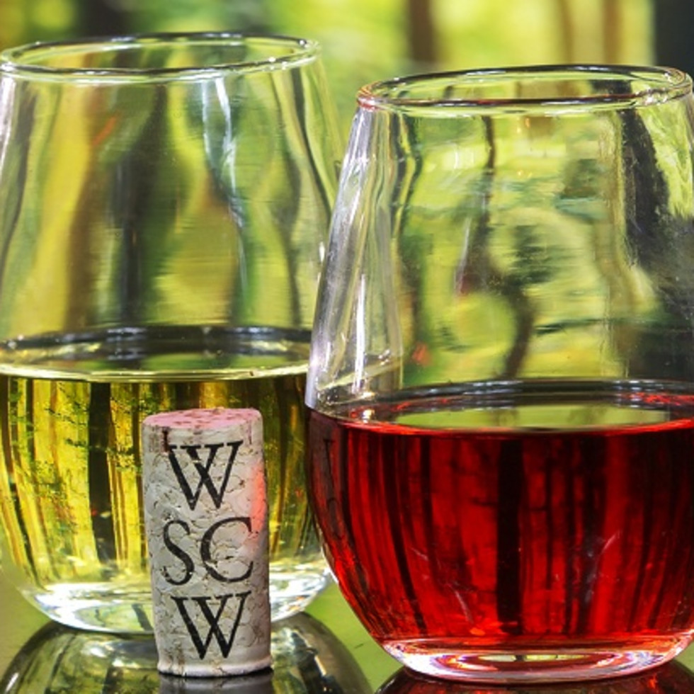 West Sandy Creek Winery wine glasses