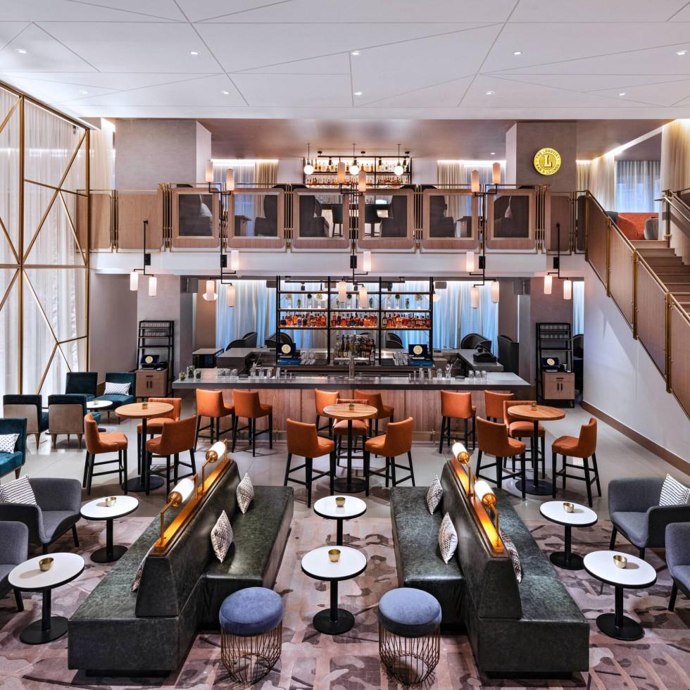 The Lobbyist bar at Austin Marriott Downtown