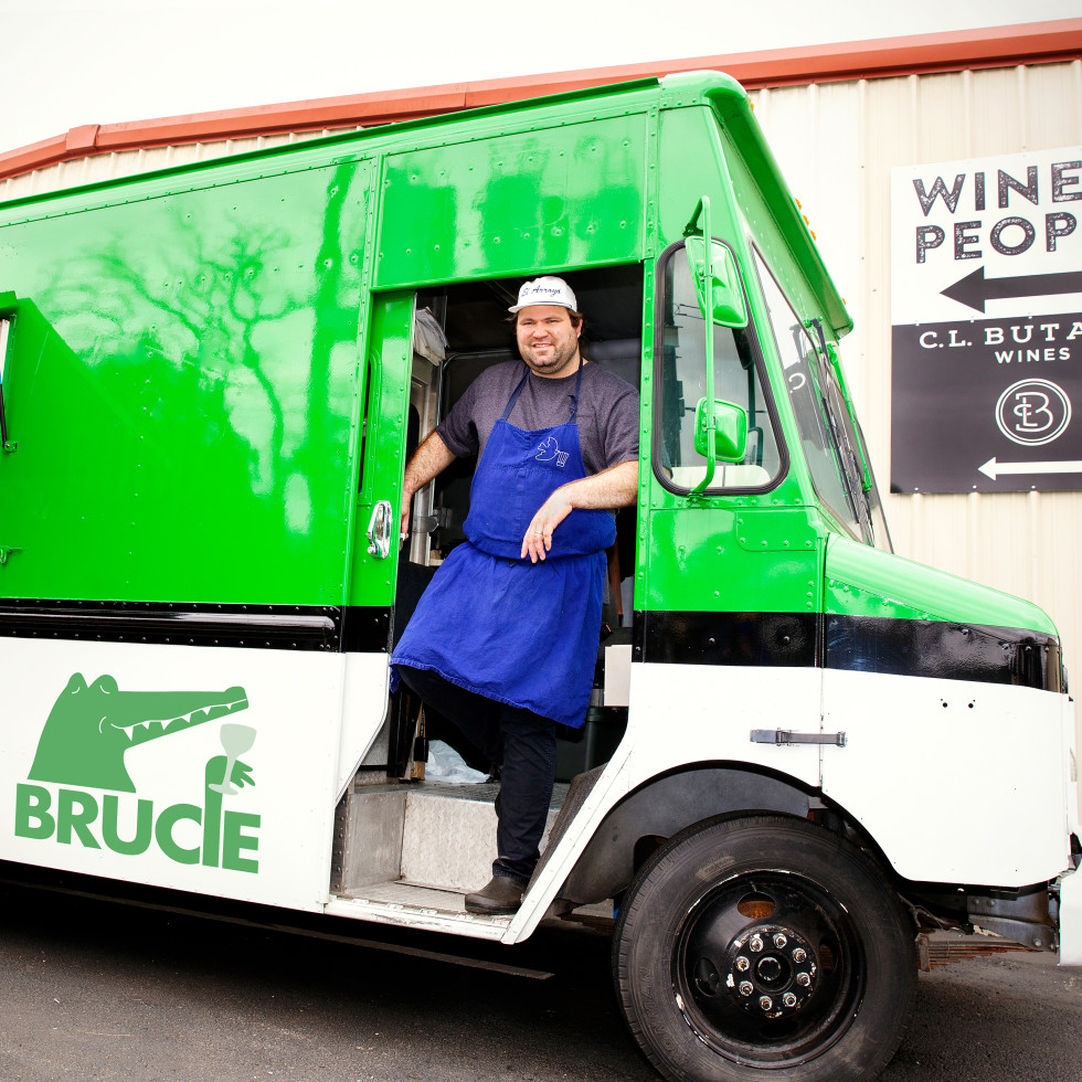 Brucie food truck wine for the people