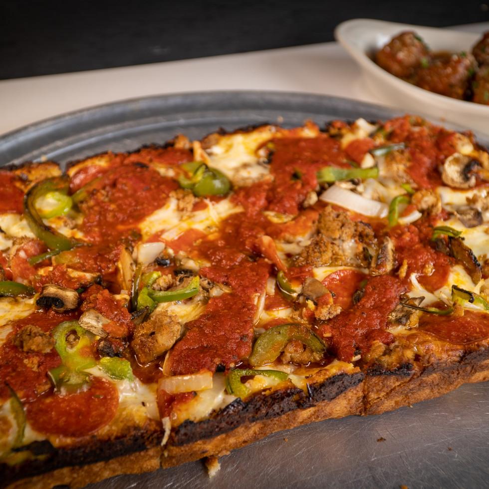 Parma supreme Detroit pizza