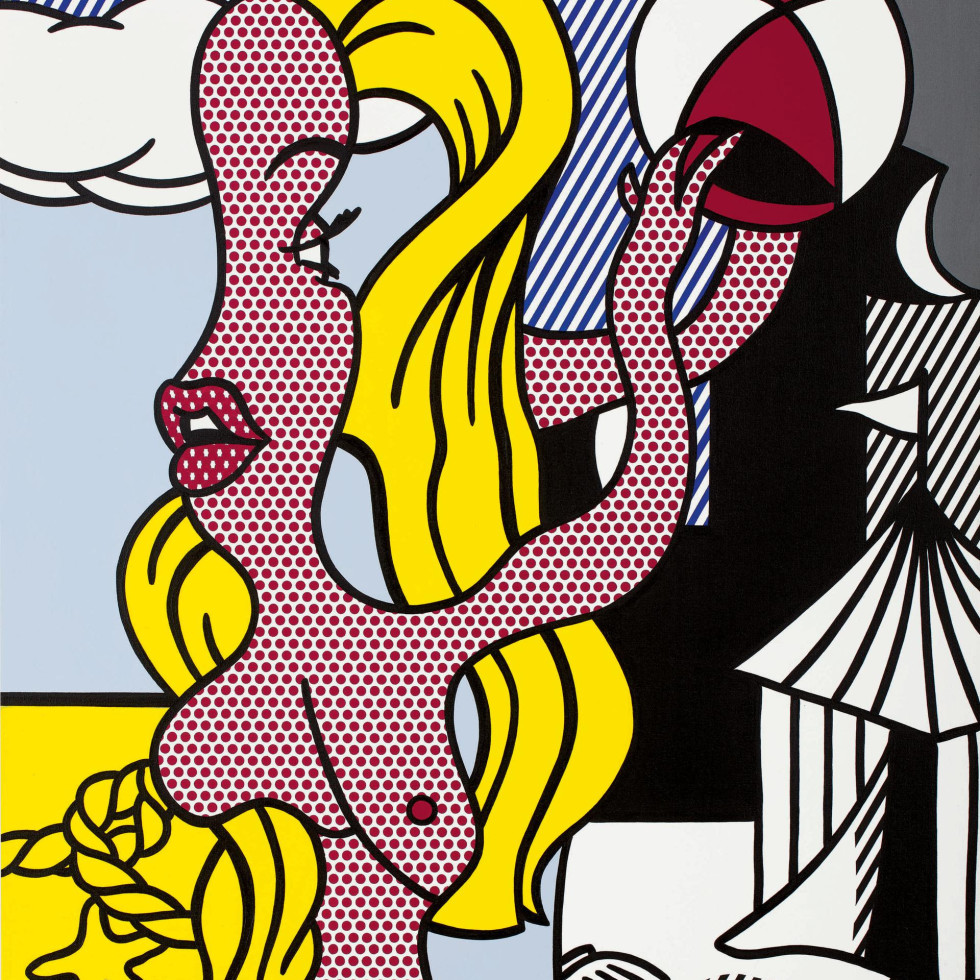 "Roy Lichtenstein, ""Girl with Beach Ball II,"" Anne Marion"