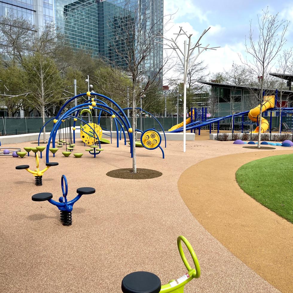 Discovery Green playground John McGovern Mendez