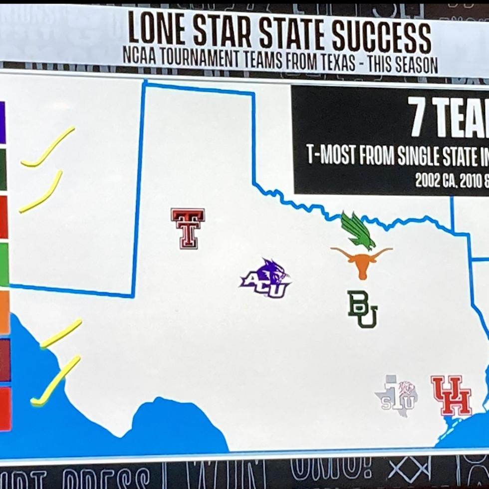 CBS March Madness map Texas Ken Hoffman