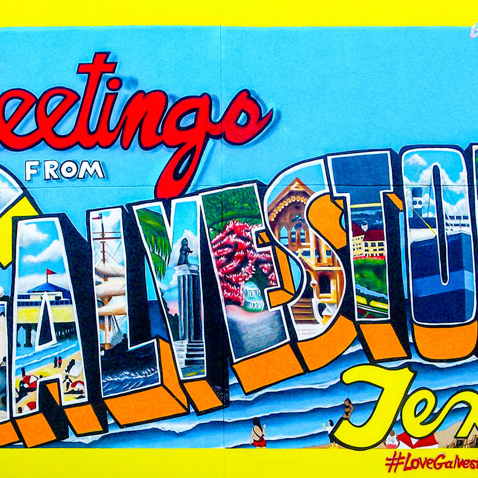 Greetings from Galveston mural