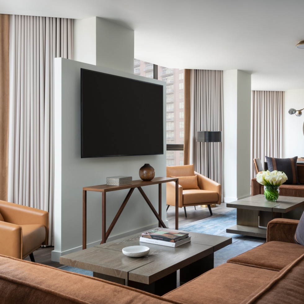 Four Seasons Houston new rooms suites Presidential Suite living room
