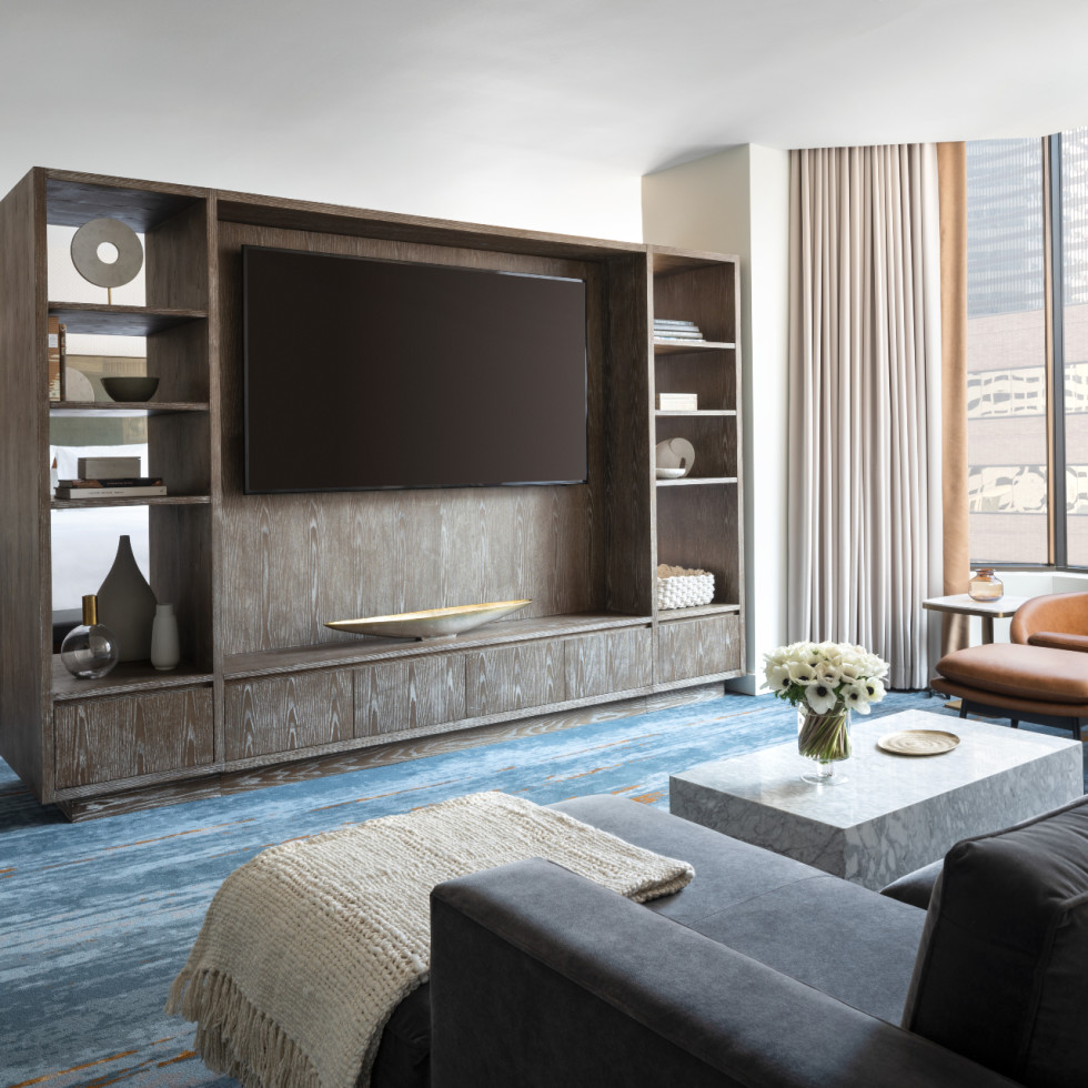 Four Seasons Houston new rooms suites Presidential suite parlor