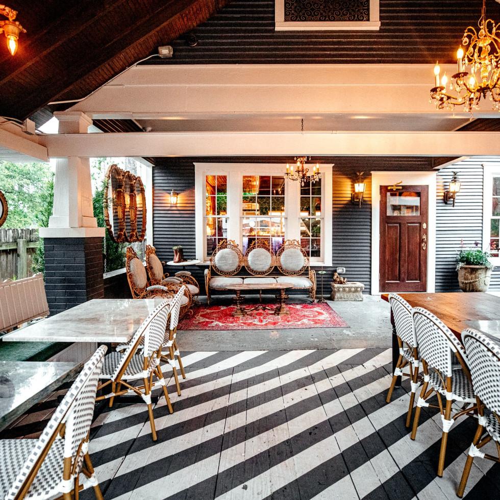 Honey Moon Spirit Lounge back patio