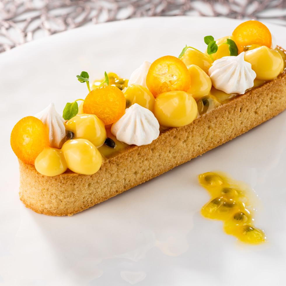Le Jardinier Passionfruit Kumquat tart