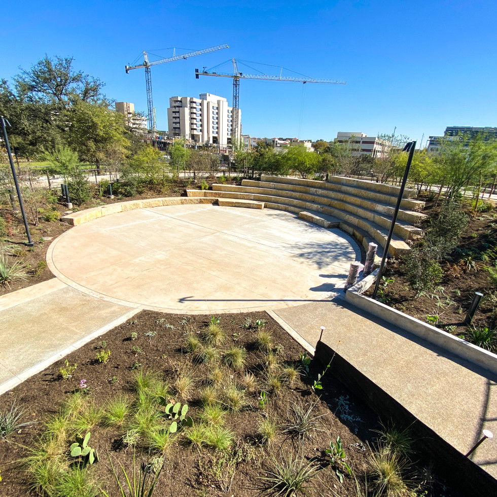 Lebermann Plaza at Waterloo Park Austin